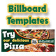 Pizza Billboard Templates  - GraphicRiver Item for Sale