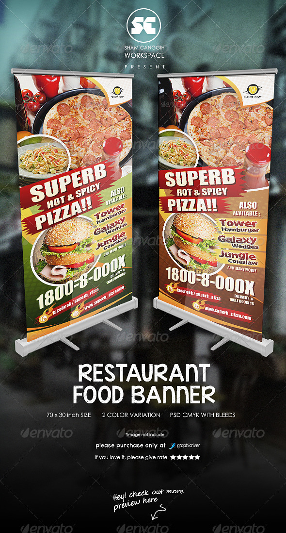 GraphicRiver Restaurant Food Banner 7332047
