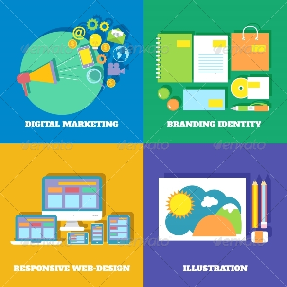 GraphicRiver Marketing Icons Set 7332061