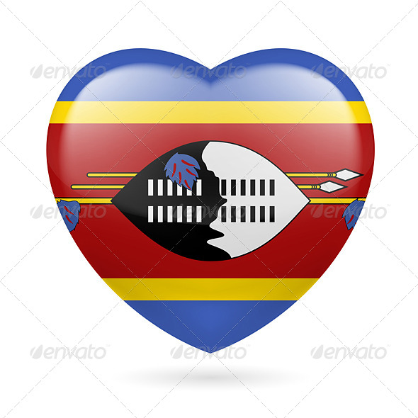 GraphicRiver Heart icon of Swaziland 7332066