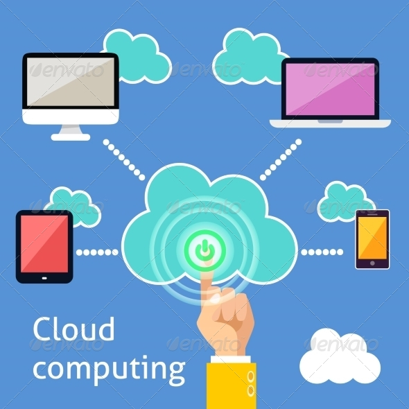 GraphicRiver Cloud Computing Infographic 7332095