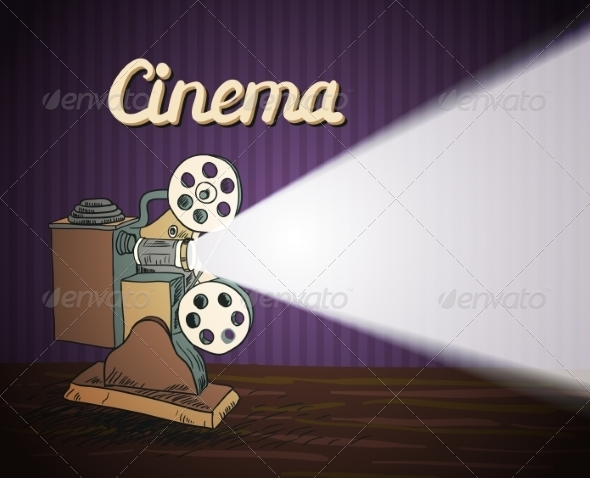 GraphicRiver Doodle Cinema Projector 7332100