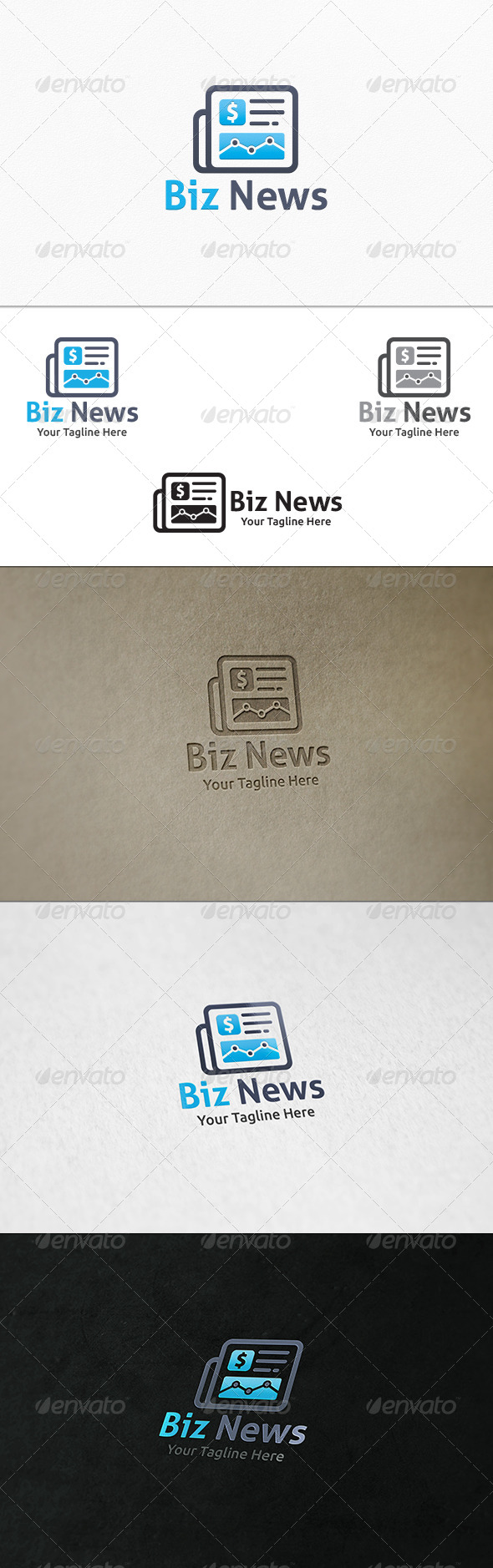 GraphicRiver Business News Logo Template 7332103