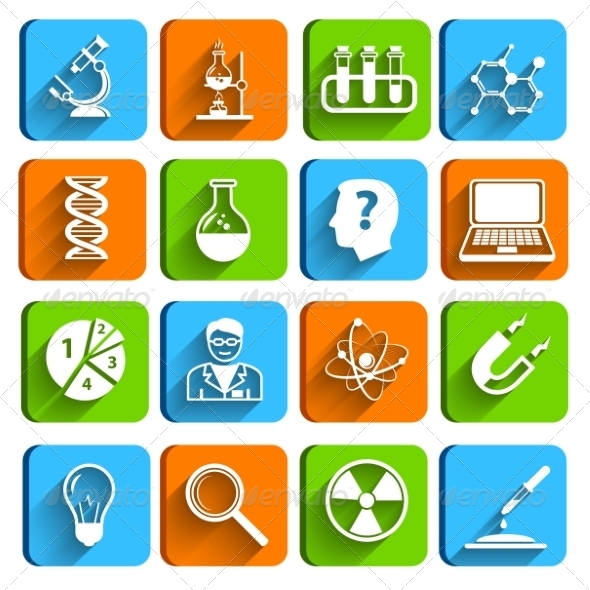 GraphicRiver Science Laboratory Icons Set 7332149