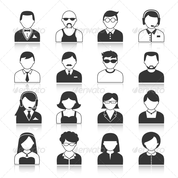 GraphicRiver Avatar Characters Icons Set 7332159