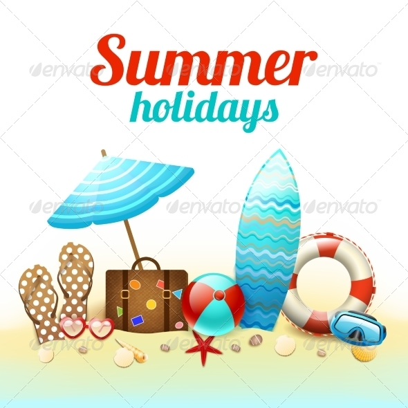 GraphicRiver Summer Holidays Background Poster 7332170