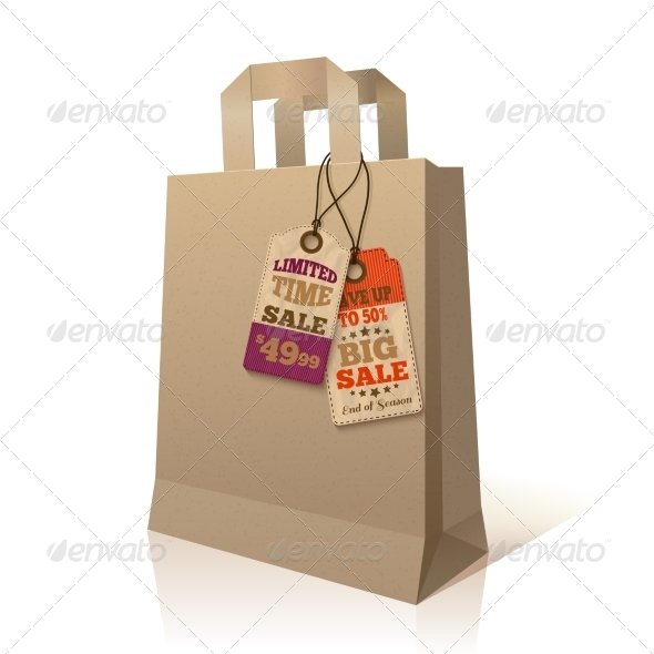 GraphicRiver Paper Shopping Bag with Promotion Tags 7332172