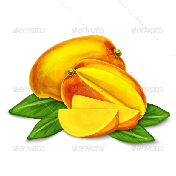 GraphicRiver Mango Isolated Poster or Emblem 7332180