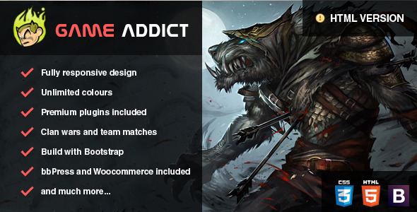 ThemeForest Clan War Gaming Template 7332190