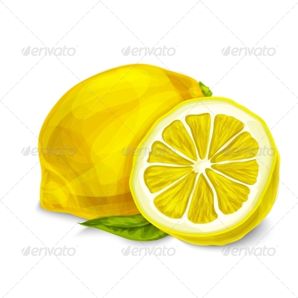 GraphicRiver Lemon Isolated Poster or Emblem 7332226