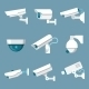Security Cameras Icons Set - GraphicRiver Item for Sale