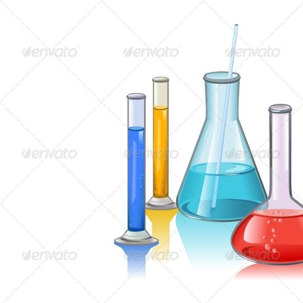 GraphicRiver Colored Laboratory Flasks 7332271