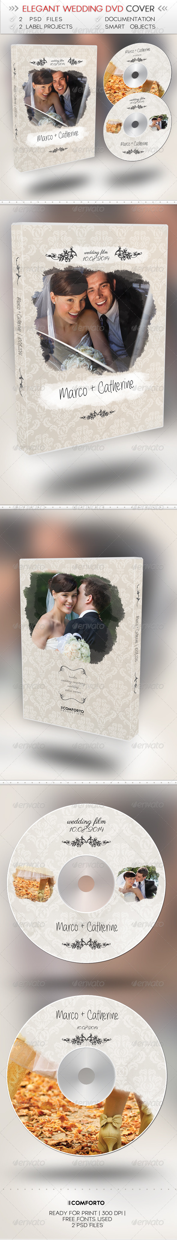 GraphicRiver Elegant Wedding DVD Cover 7332419
