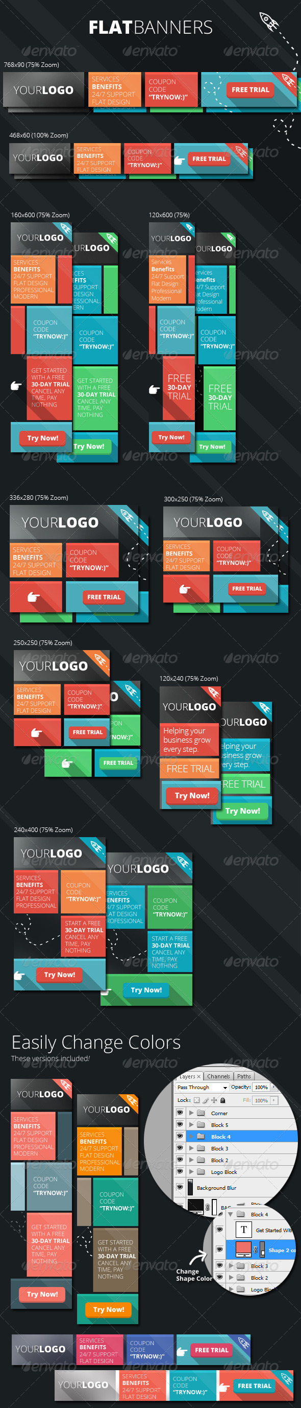 GraphicRiver Flat Banners 7332912