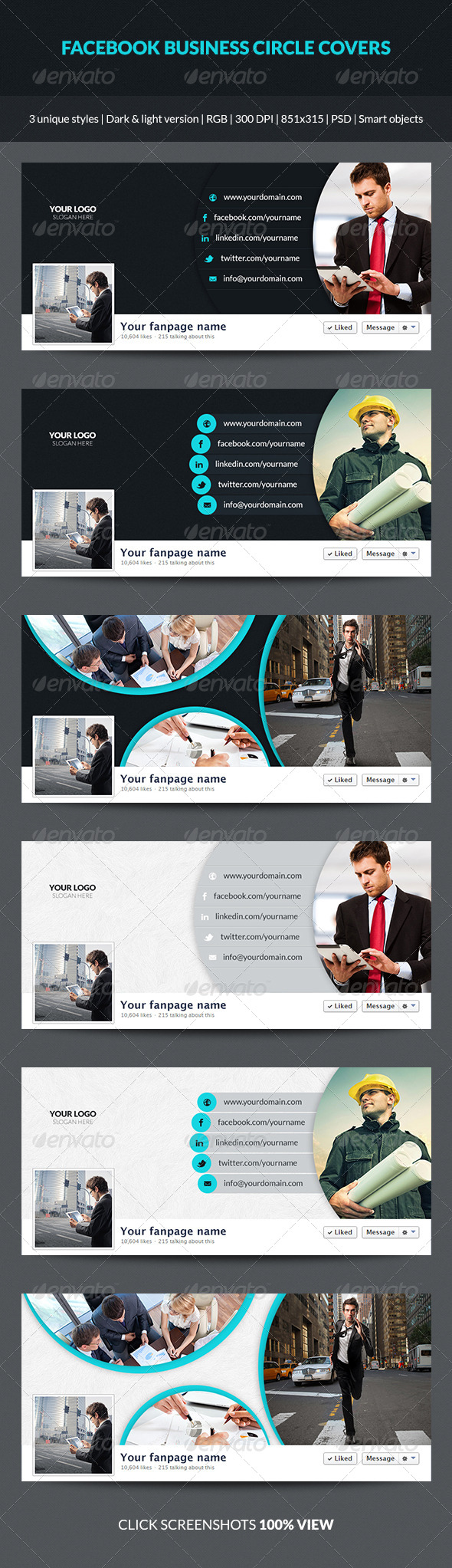 GraphicRiver Facebook Business Circle Covers 7333047