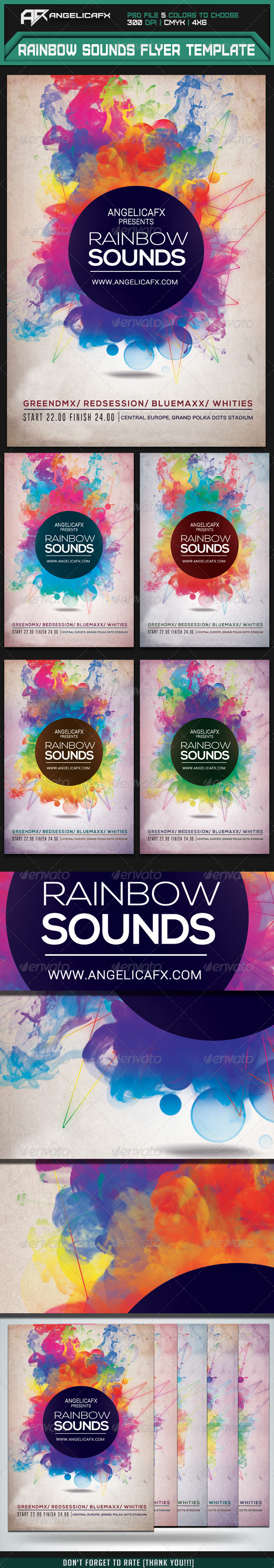 GraphicRiver Rainbow Sounds Flyer Template 7333824