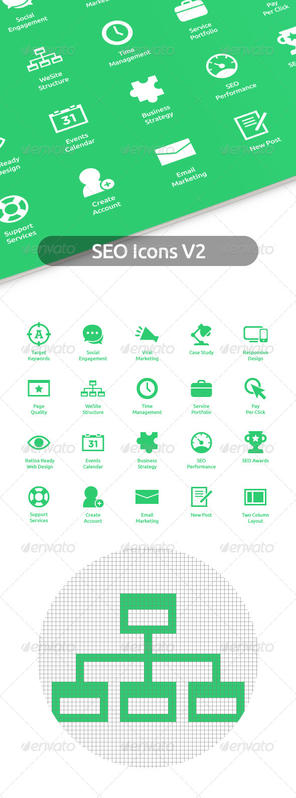 GraphicRiver SEO Icons V2 7334034