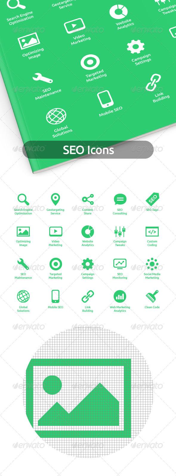 GraphicRiver SEO Icons 7334077
