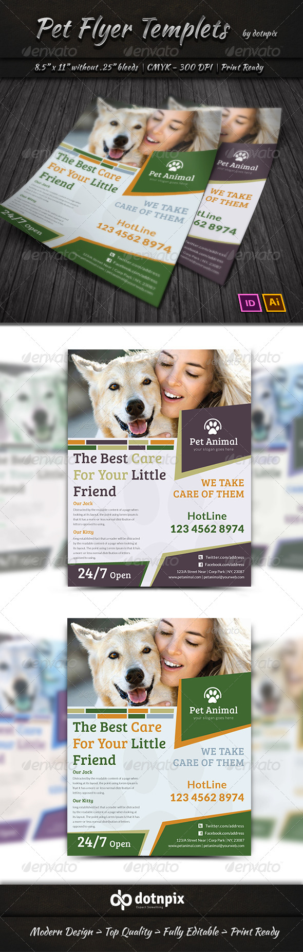 GraphicRiver Pet Flyer Templets 7334088