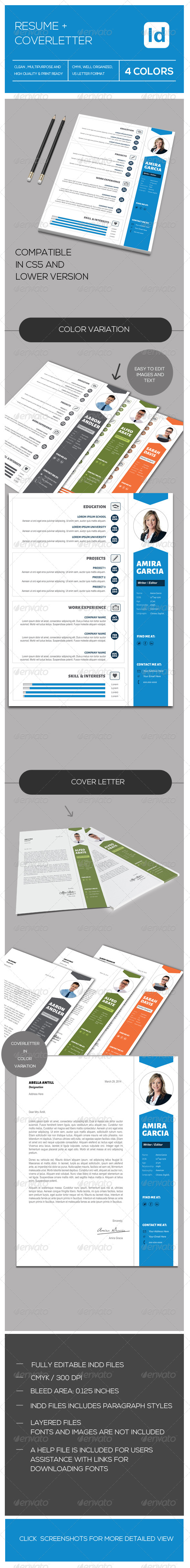 GraphicRiver Resume & Coverletter 7334348