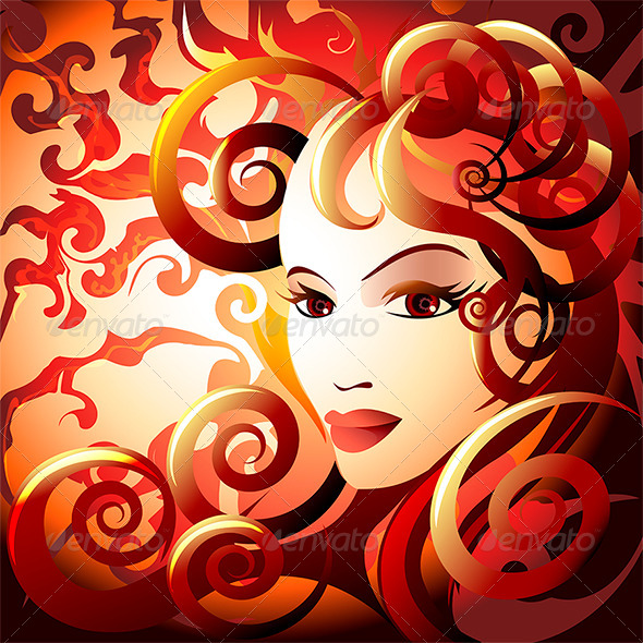 GraphicRiver The Fire Lady 7334393
