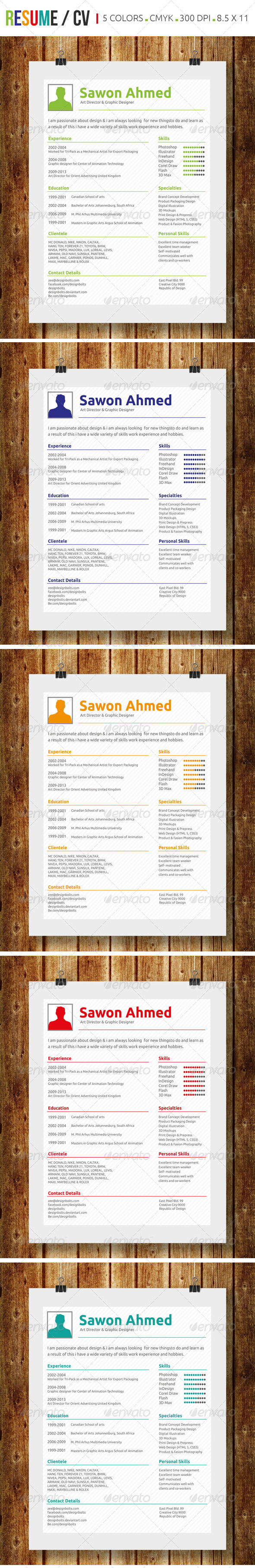GraphicRiver Simple Resume CV 7334626