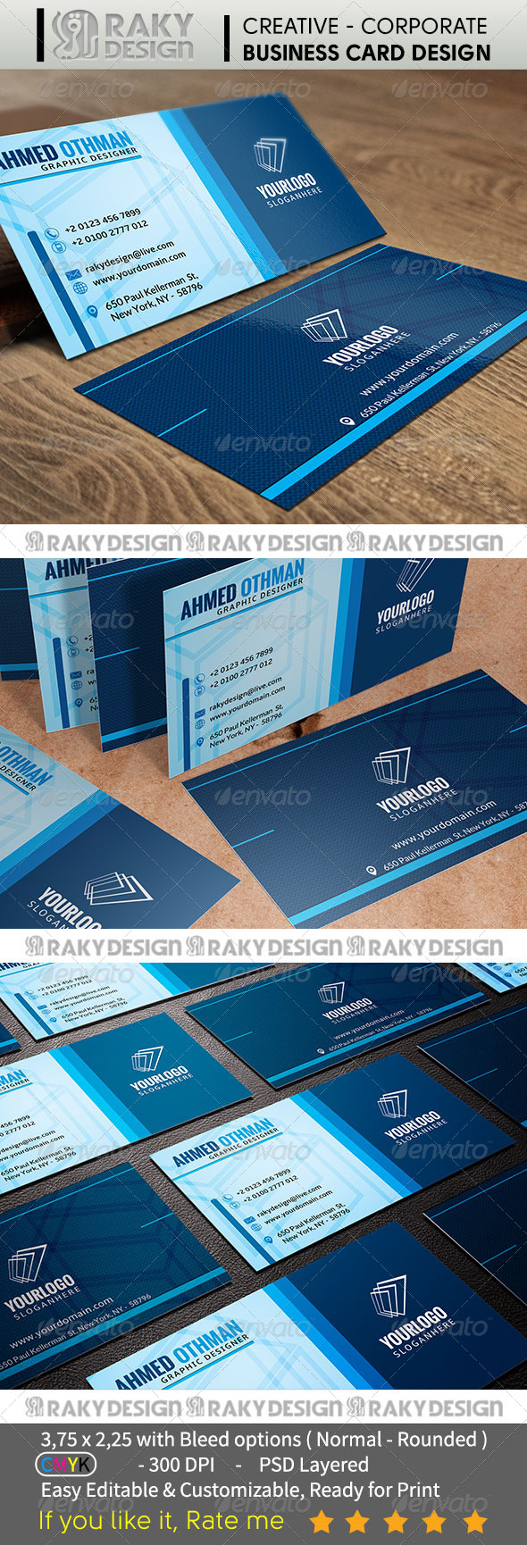 GraphicRiver Corporate Business Card V02 7334684