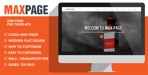 ThemeForest MaxPage Creative Single Page Website Template 7334834