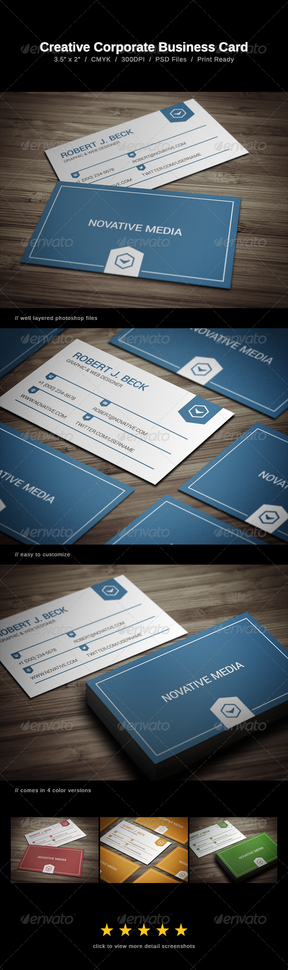 GraphicRiver Creative Corporate Business Card 7335303