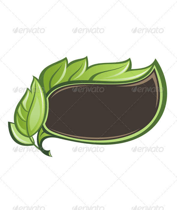 GraphicRiver Green Leaf Frame 7335466