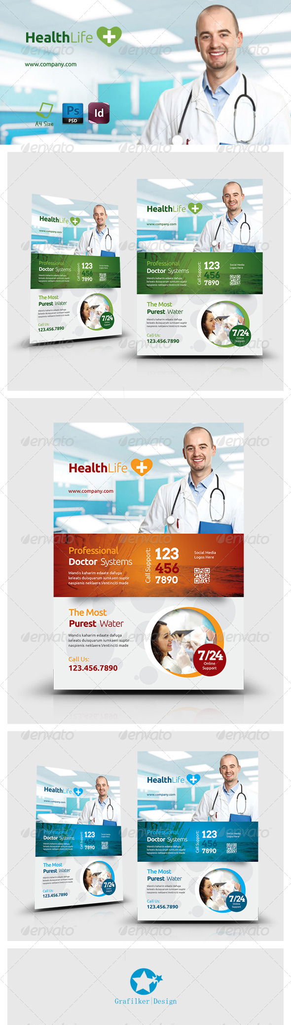 GraphicRiver Health Flyer Templates 7334437