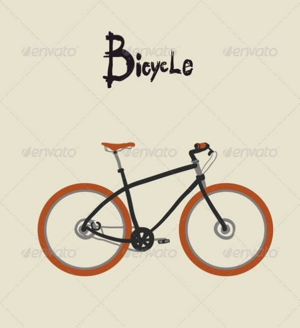 GraphicRiver Vintage bicycle Vector illustration 7335654