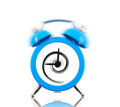 Classic alarm clock ringing with swirl inside isolated - PhotoDune Item for Sale