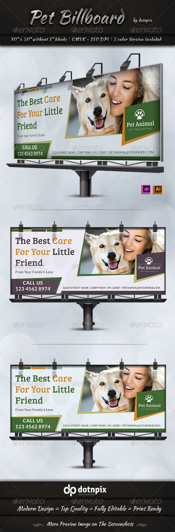GraphicRiver Pet Billboard Template 7335743
