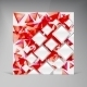 Vector squares. Abstract background red - GraphicRiver Item for Sale