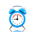 Show time! Alarm clock ringing isolated on white - PhotoDune Item for Sale