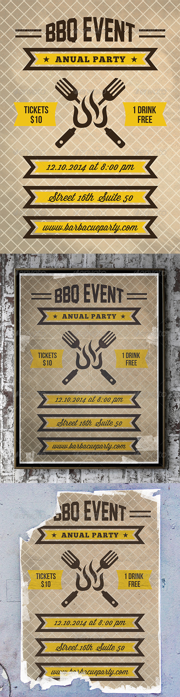 GraphicRiver BBQ Party Flyer Poster 7335324