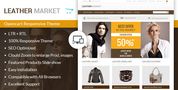 ThemeForest Leather Market Opencart Responsive Theme 7336024