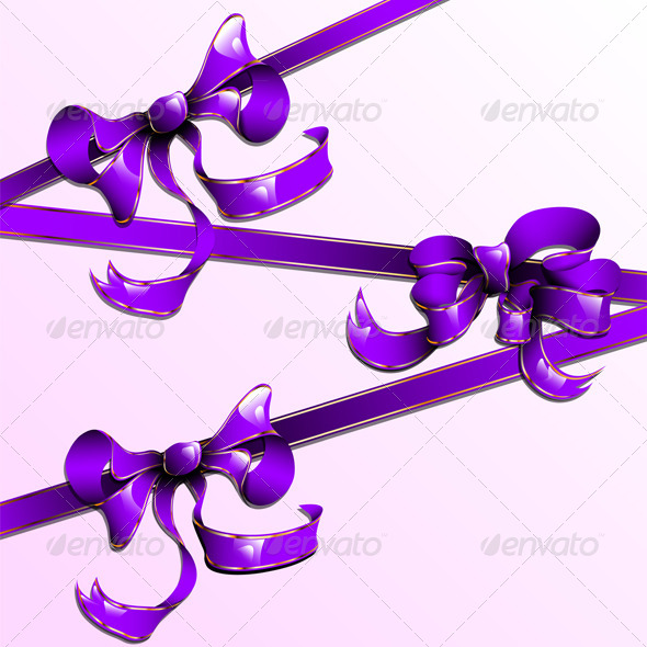 GraphicRiver The Violet Ribbons with Golden Straights 7336039