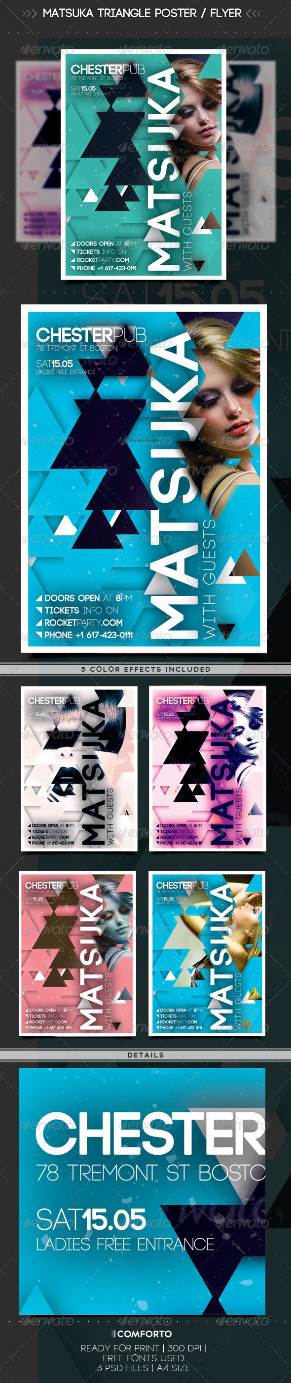 GraphicRiver Matsuka Triangle Poster Flyer 7336102