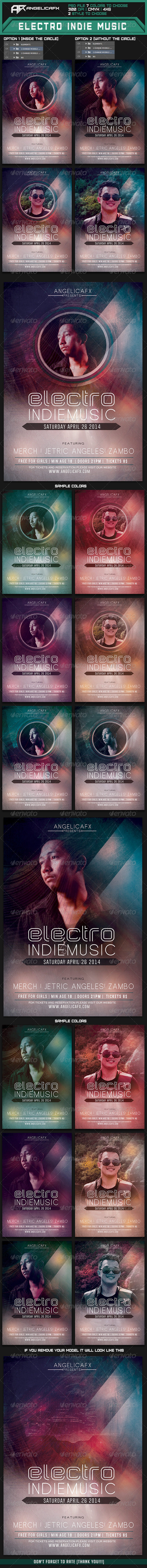 GraphicRiver Electro Indie Music Flyer Template 7336137
