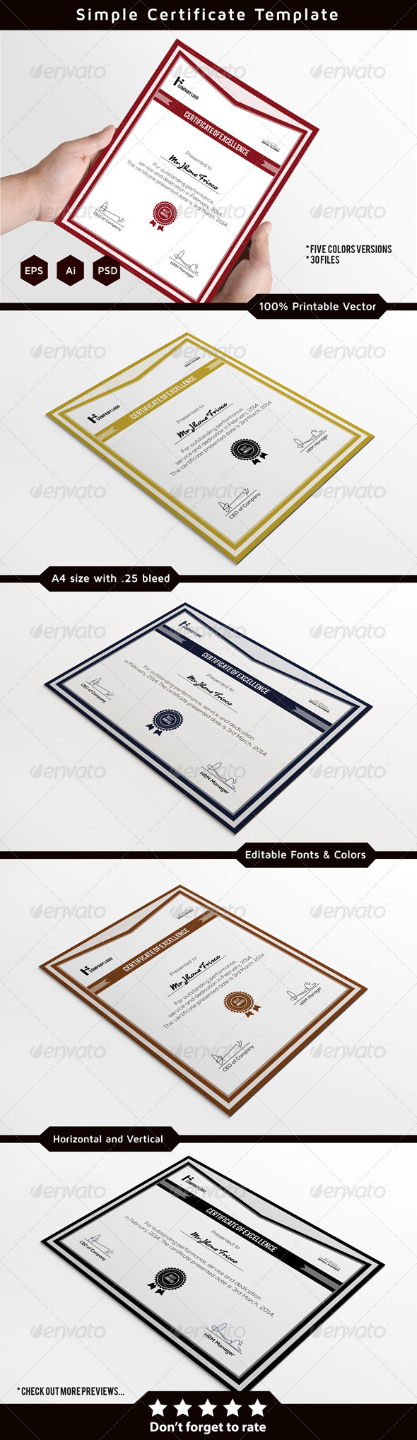 GraphicRiver Corporate Certificate Template 7336207