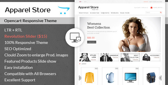 ThemeForest Apparel Clothes Opencart Theme 7336385