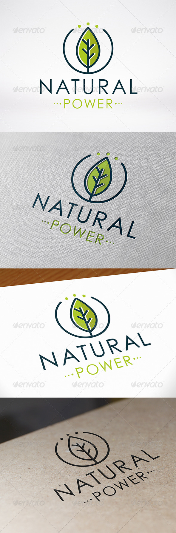 GraphicRiver Natural Power Logo Template 7336424