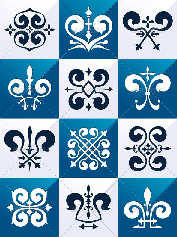 GraphicRiver Medieval Emblem Ornament Part 1 7336493