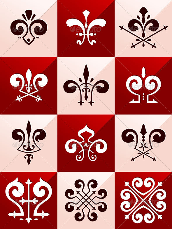 GraphicRiver Medieval Emblem Ornament Part 2 7336497