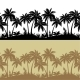 Palms and Flowers Seamless Silhouettes  - GraphicRiver Item for Sale