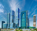 Business center with skyscrapers - Moscow City, Russia - PhotoDune Item for Sale