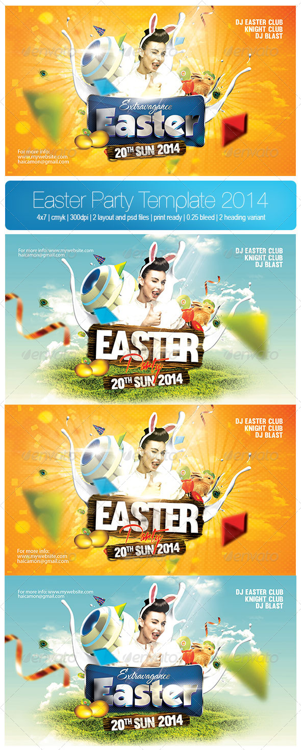 GraphicRiver Easter Party Template 2014 7336791