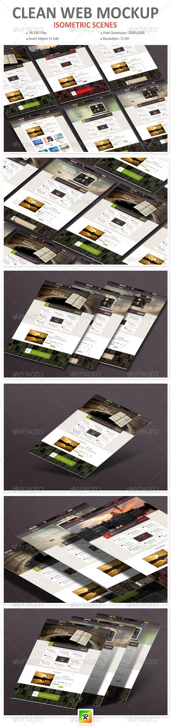 GraphicRiver Clean Web Mockup 7336800